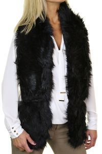 Ladies Faux Fur Shawl Wrap